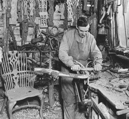 Wood worker in 1935
