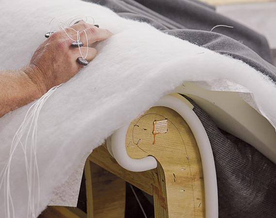 foam inside a sofa