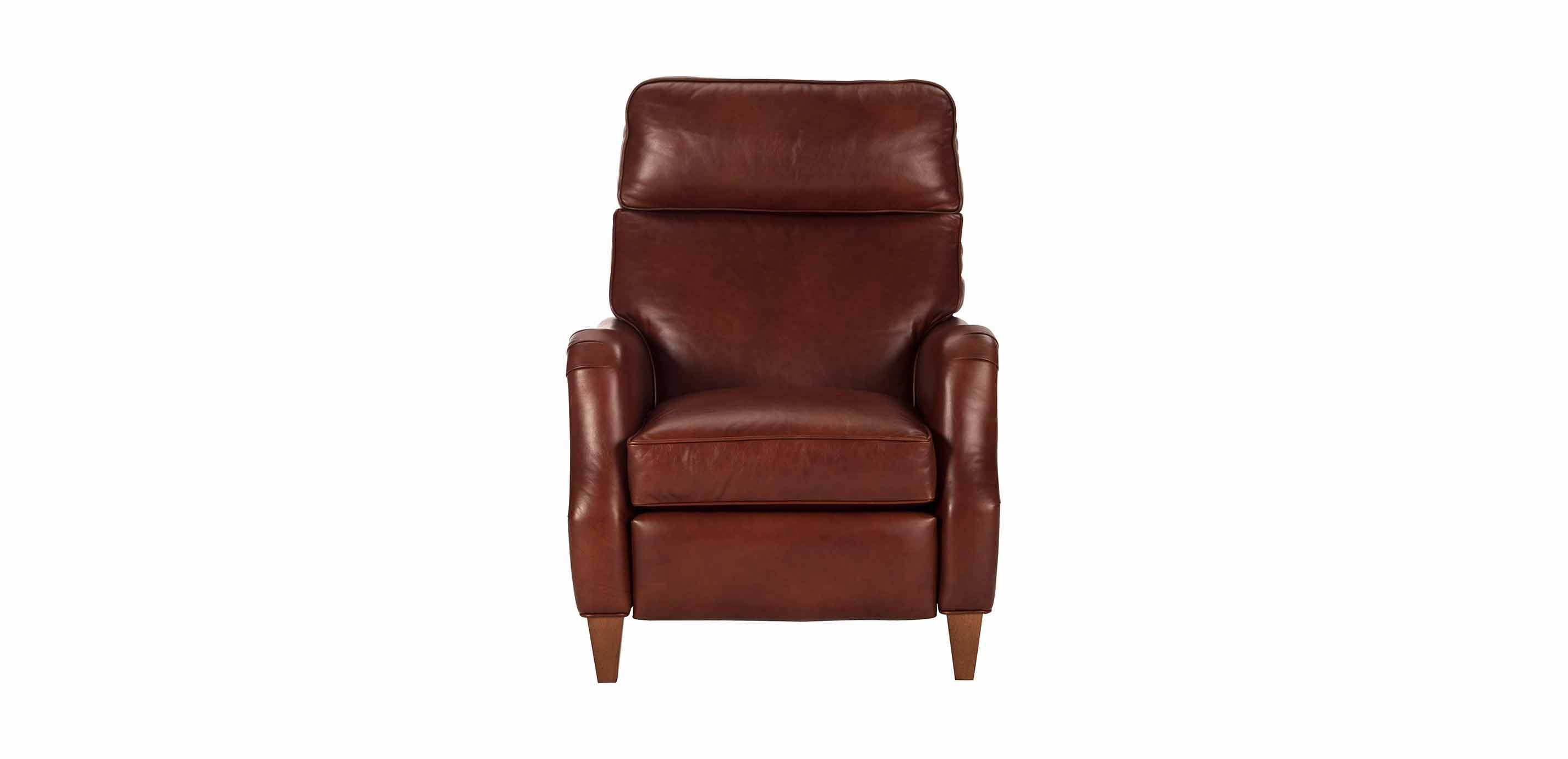 Aiden Leather Recliner Old English Saddle Recliners