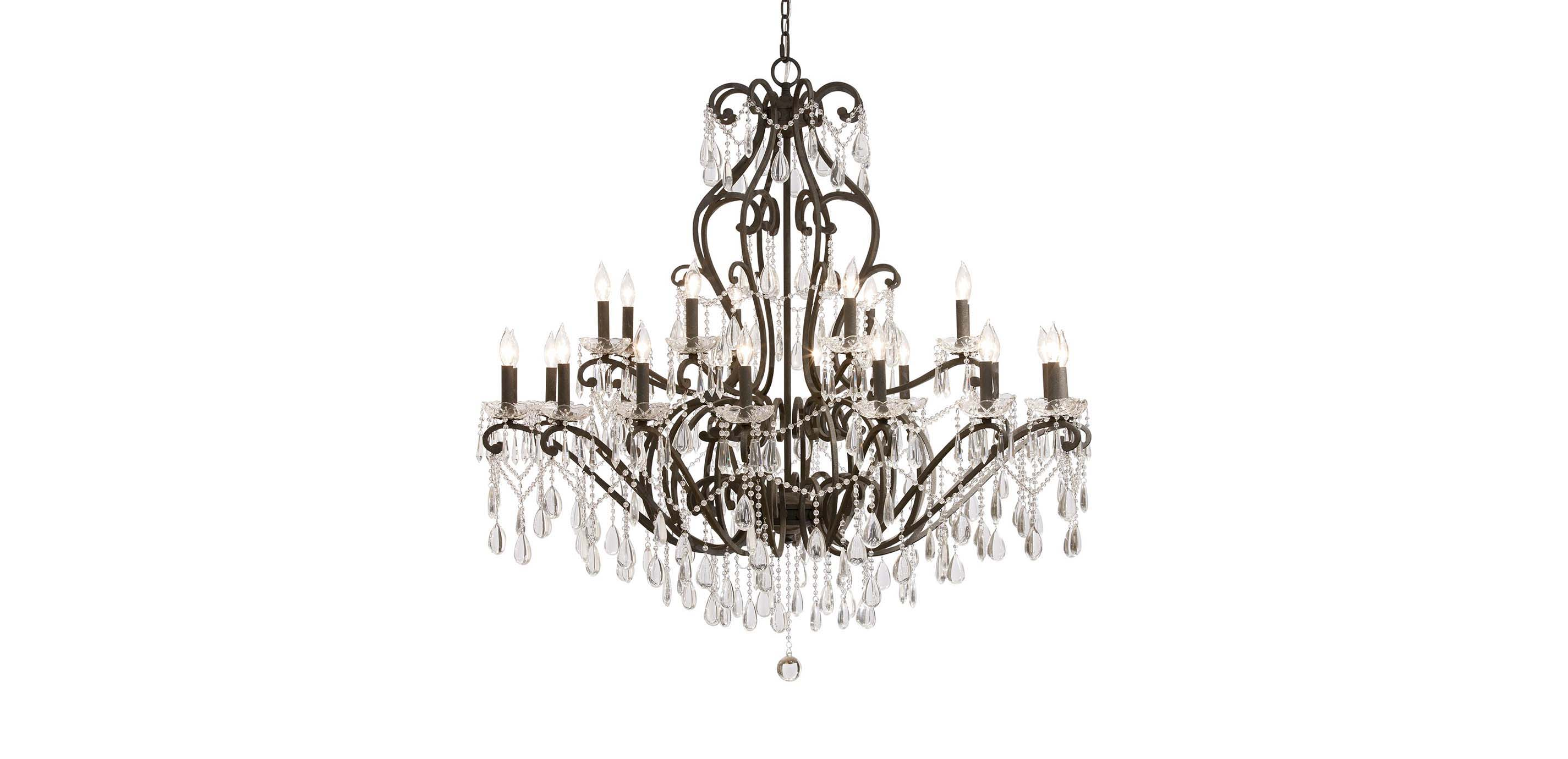 Whitney Slate Grand Chandelier Chandeliers