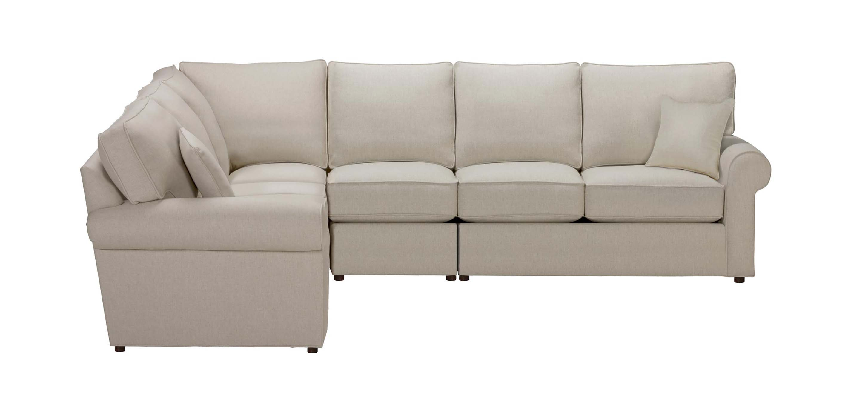 Retreat Roll Arm Four Piece Sectional Quick Ship