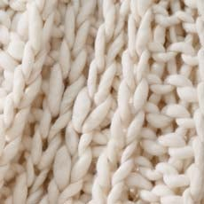 Ivory Cross Cable Knit Throw