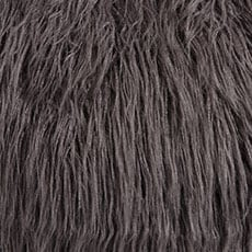 Charcoal Faux Fur Pillow