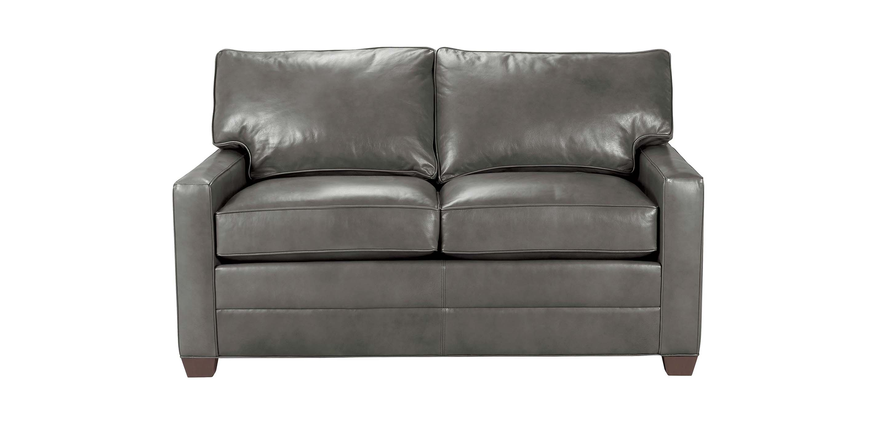Bennett track arm leather sofas quick ship sofas for Sofa en l liquidation