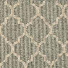 Silver Spruce Moroccan Art Serged Rug
