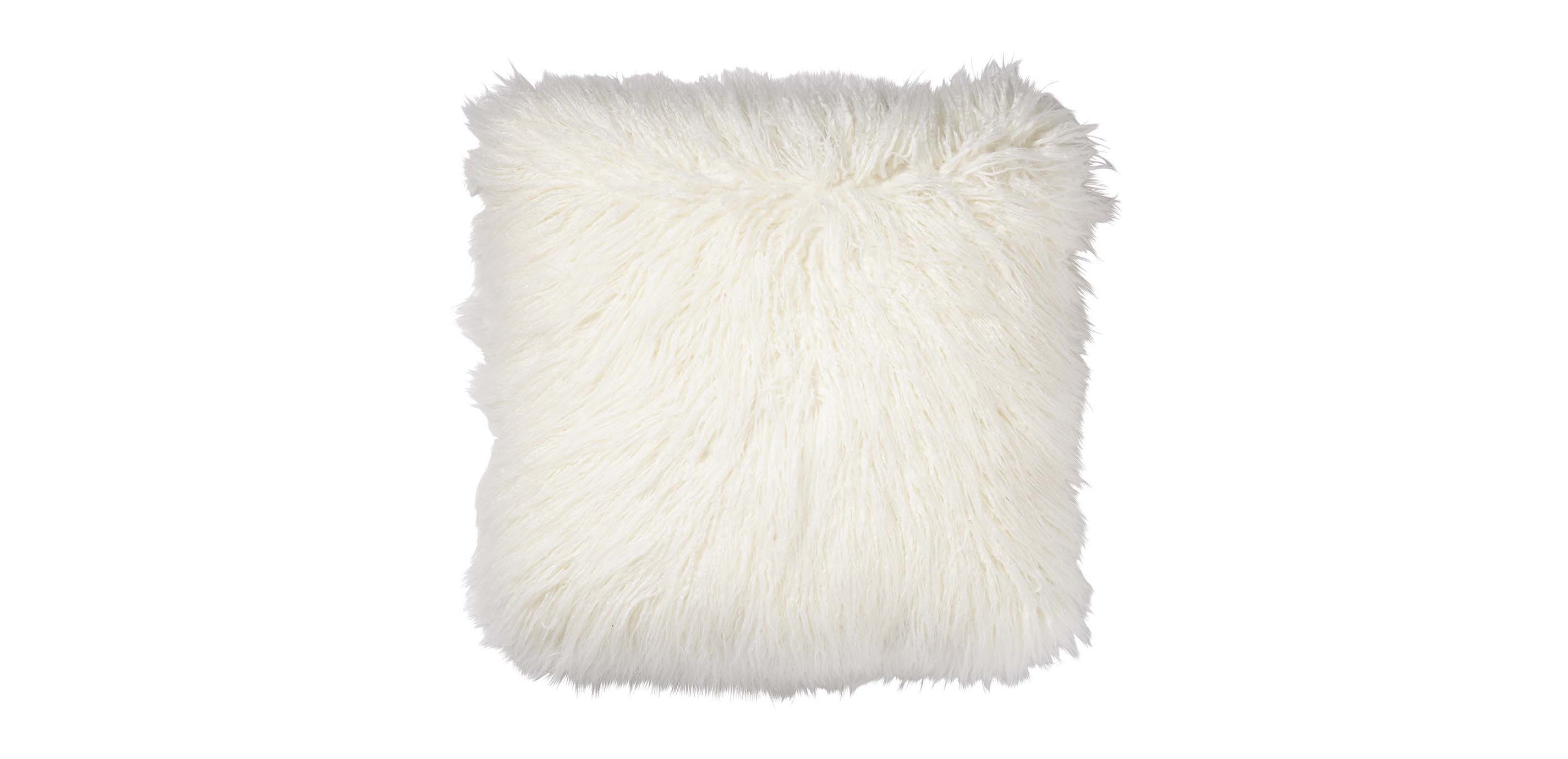 pillow throw fur lifestyle saro ivory juneau classic pin faux