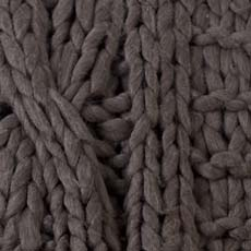 Dark Brown Cross Cable Knit Throw