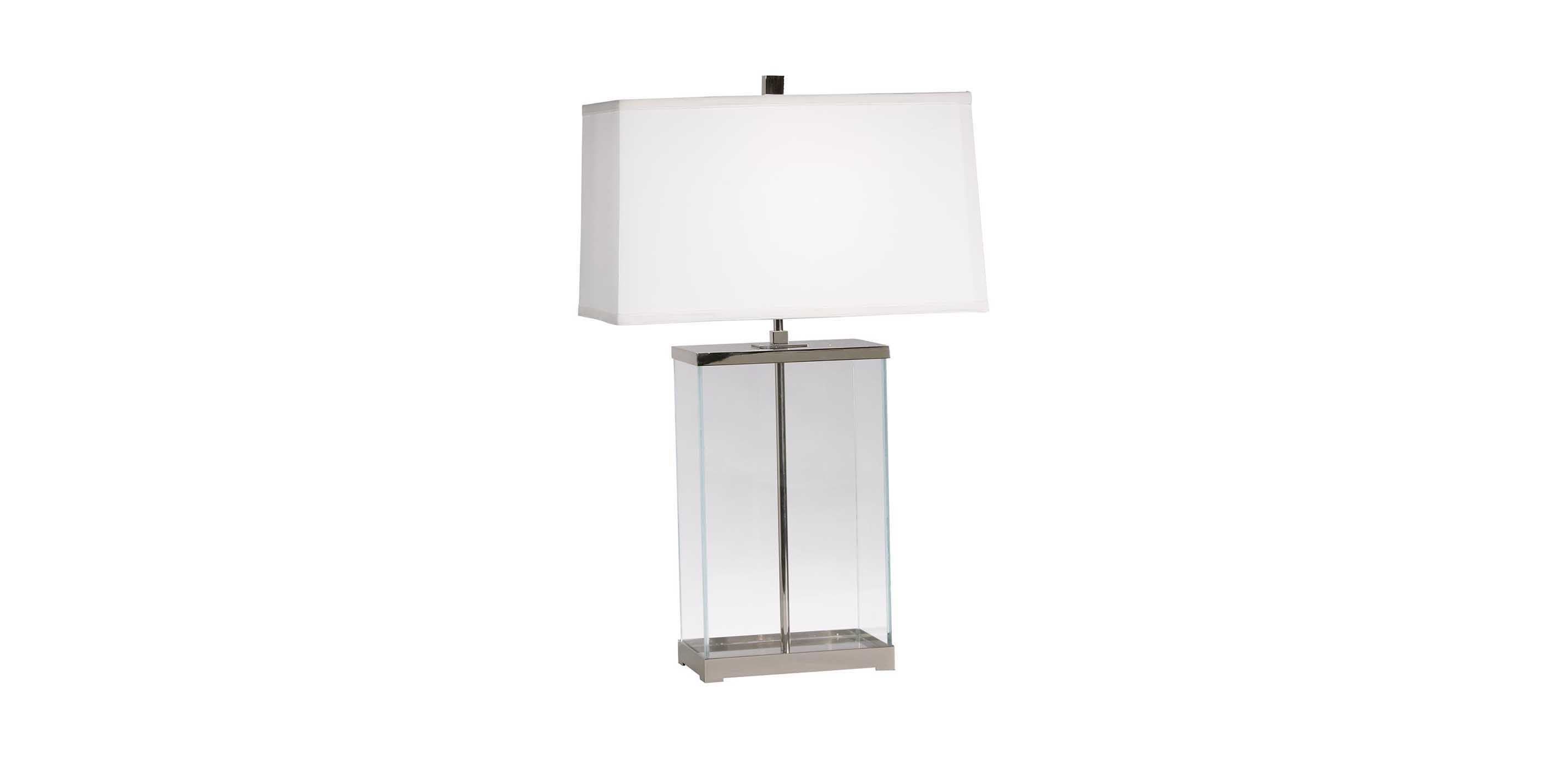 Rectangular glass table lamp table lamps ethan allen images null aloadofball Gallery