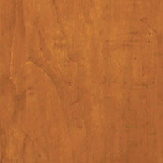English Toffee (253): Warm medium brown stain with dark glaze, moderately distressed, antiqued. Duval Curio