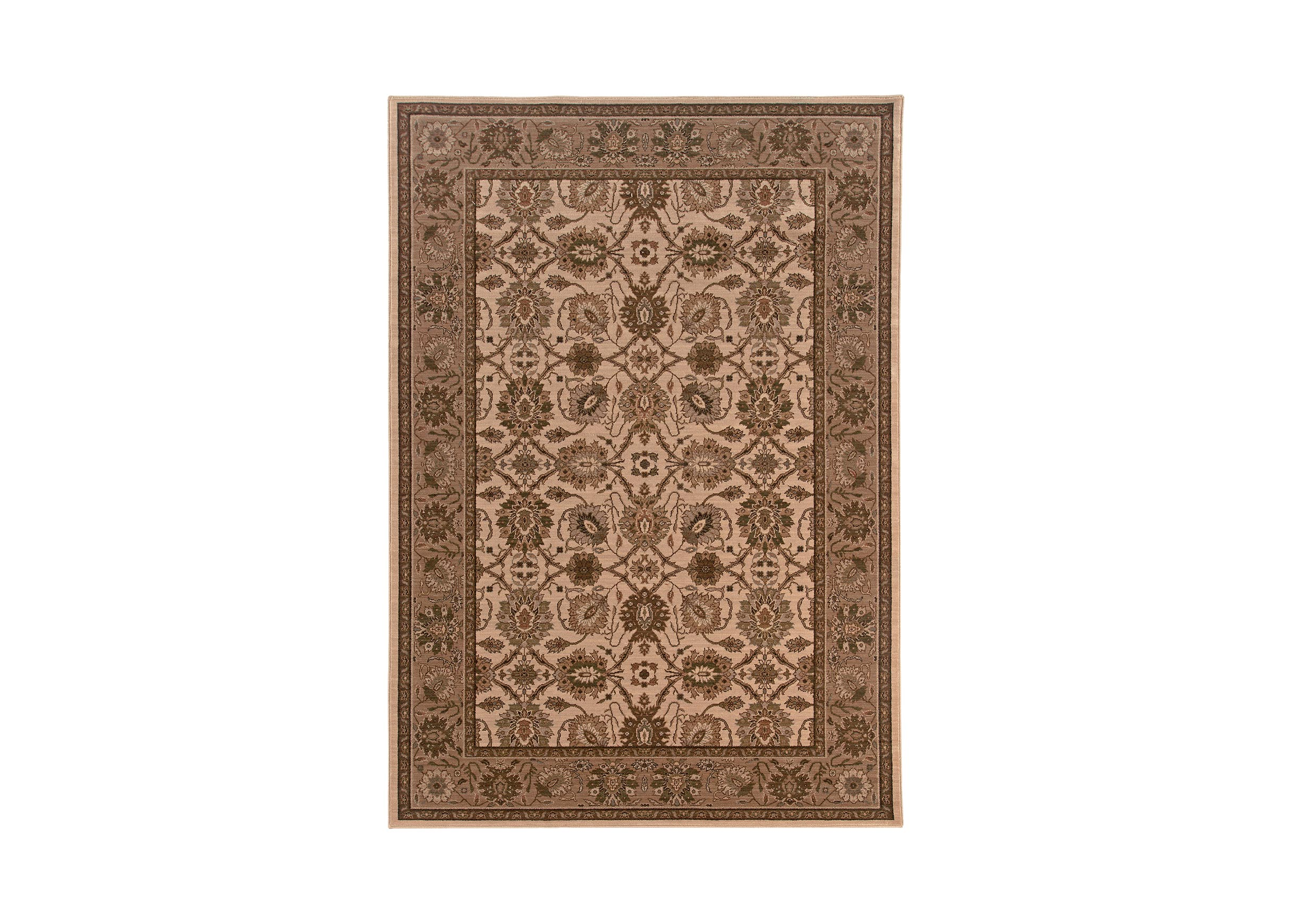 Sultanabad Area Rug Ivory Tan Traditional Patterned