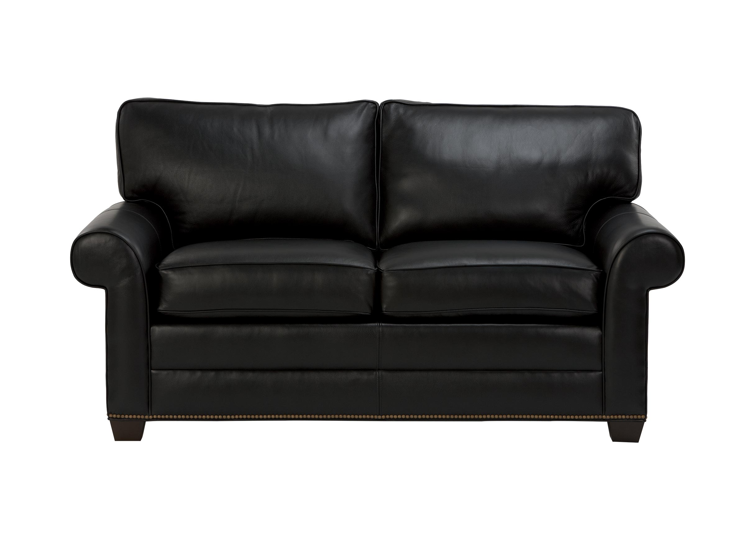 Bennett Roll Arm Leather Sofa Sofas Loveseats ~ Rolled Arm Leather Sofa