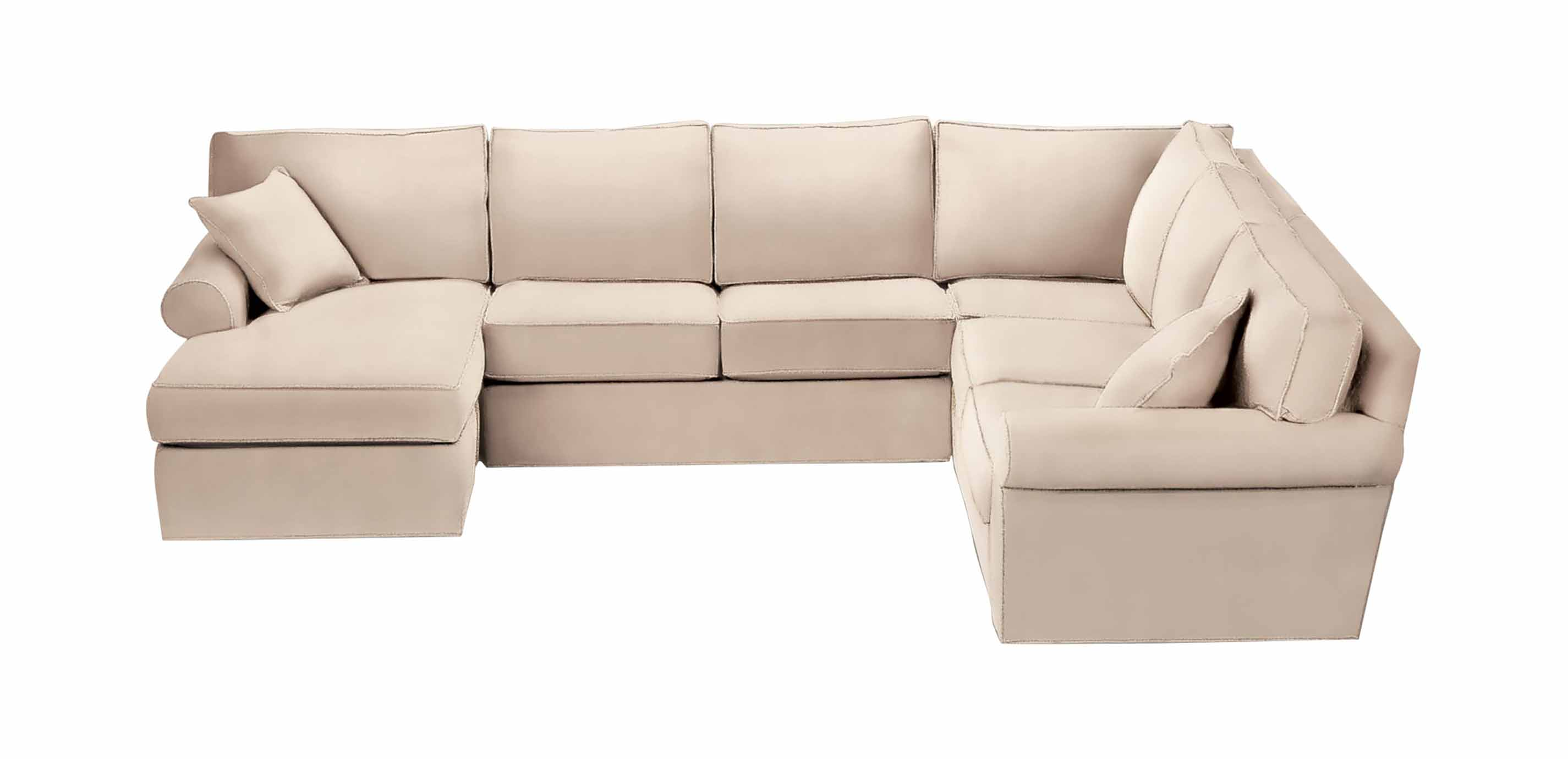 Retreat Roll Arm Sectional With Chaise Sectionals ~ One Arm Sofa With Chaise
