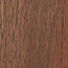 Delmar Brown (443): Warm mid-tone brown, with dark glaze in the grain; heavily distressed. Paired with reclaimed steel look that has natural spotting. Delmar Cabinet