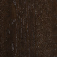Burnt Umber (464): Cool dark brown stain with black undertones, lightly distressed, satin sheen. Corin Trestle Extension Dining Table