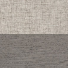 Mink / Sandstone (715): Dark gray wood finish paired with a neutral protected fabric Rambert Two-Door Buffet