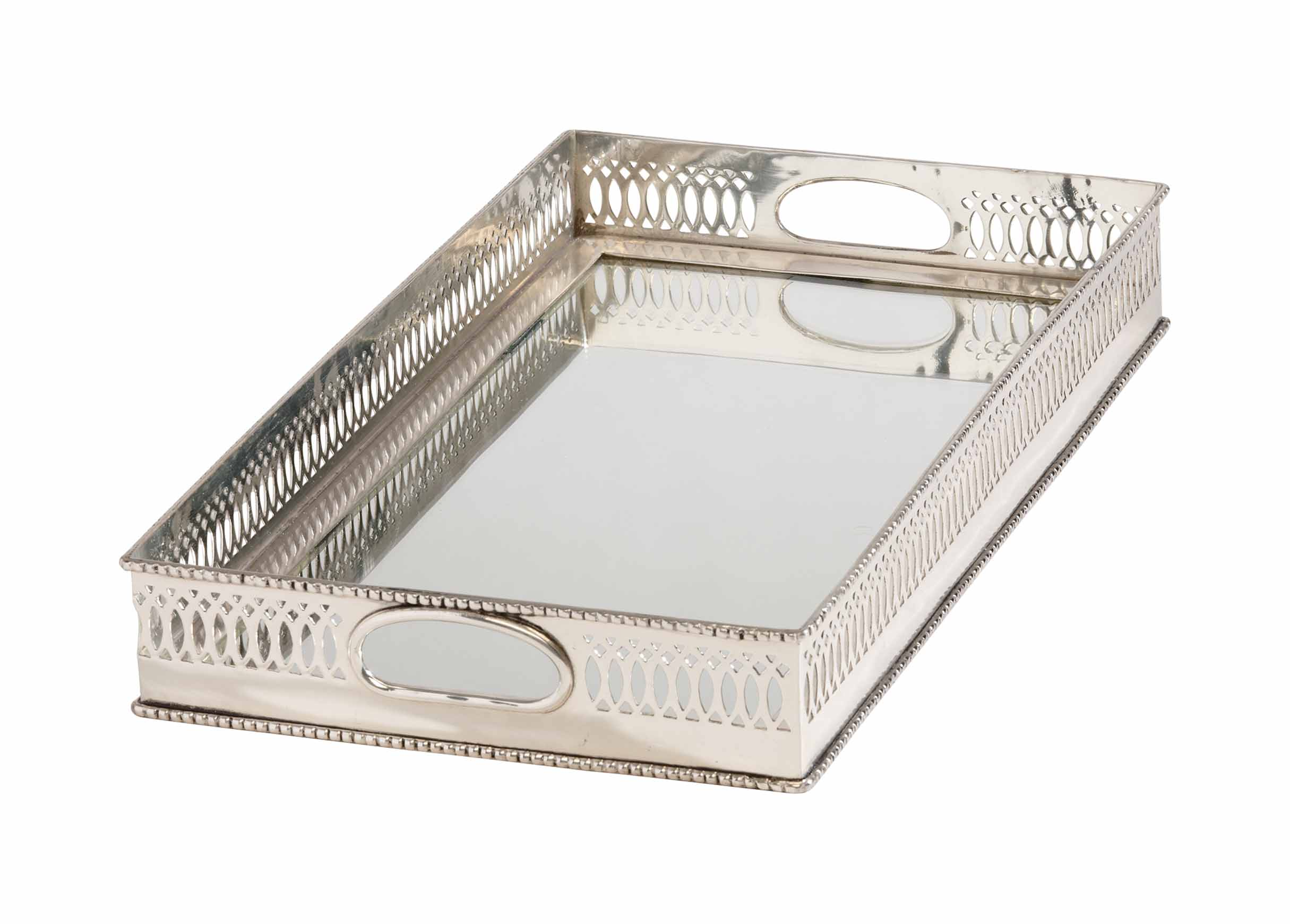 Fabulous Rectangular Mirrored Tray | Trays | Ethan Allen IC56