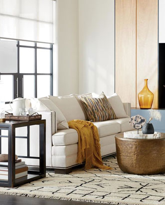 Eclectic Living Room In Neutral Colors