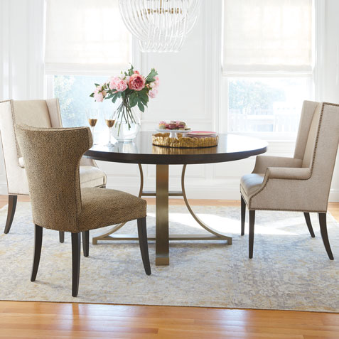 Round Table. Endless Dining Room Potential. Tile