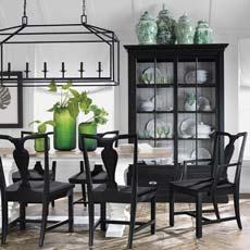 Back To Black And White Dining Room Tile