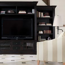 Black and White Media Room Tile