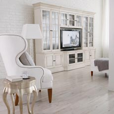 Vision In White Media Room Tile