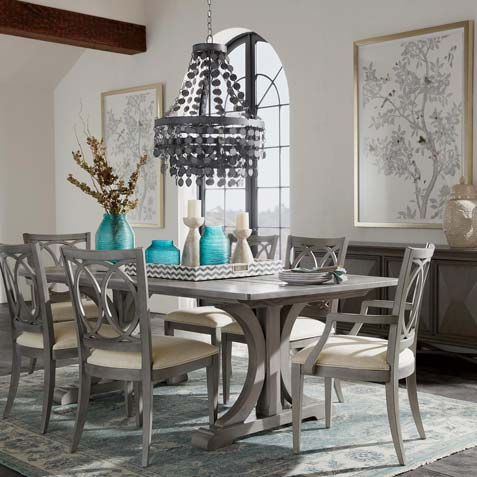 Shades of Gray Dining Room Tile
