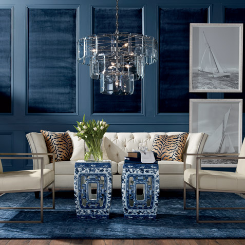 Rhapsody in Blue Living Room Tile