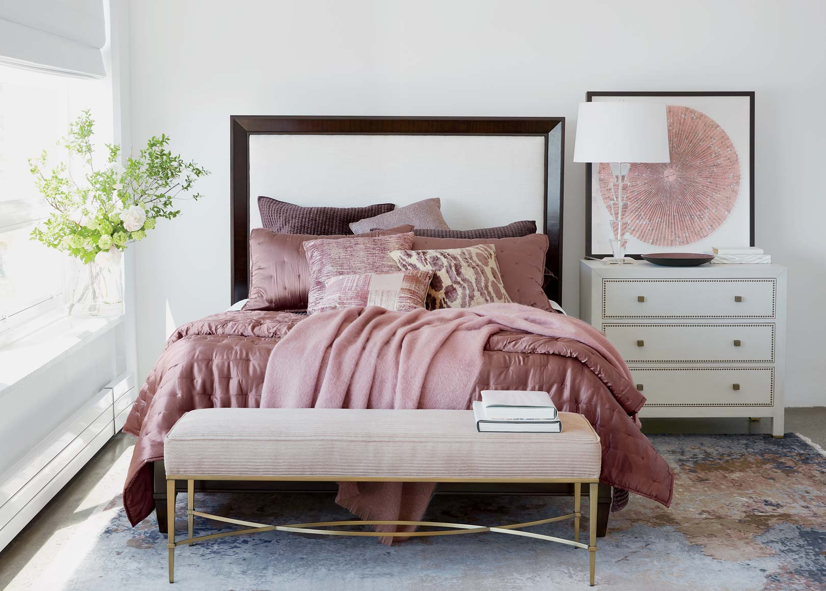 Dusty Pink Hollywood Glamour Bedroom Ideas | Ethan Allen ...