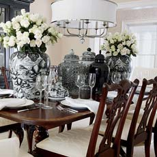 Lots of Luxe Dining room Tile