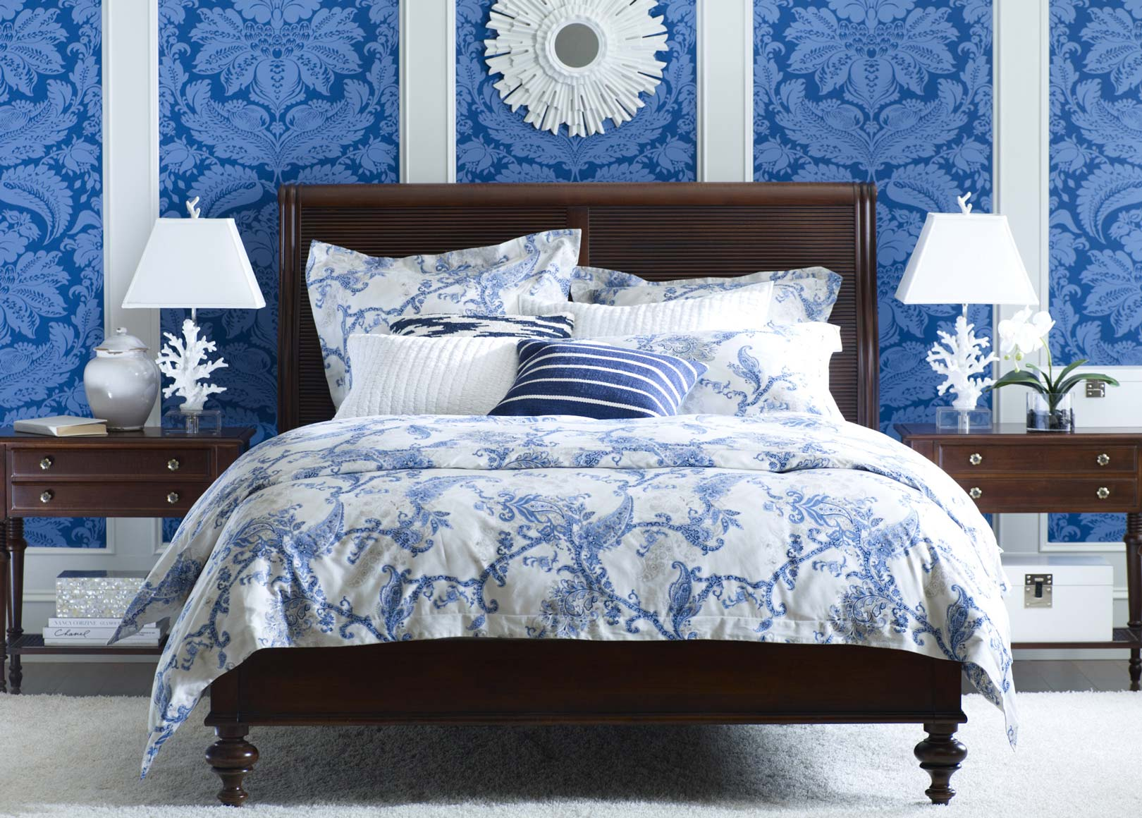 Delmore Blue Bedroom Main Image