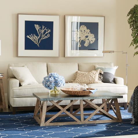 Casual Goes Coastal Living Room Tile