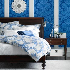 Delmore Blue Bedroom Tile