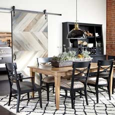Modern Farmhouse Dining Room Tile