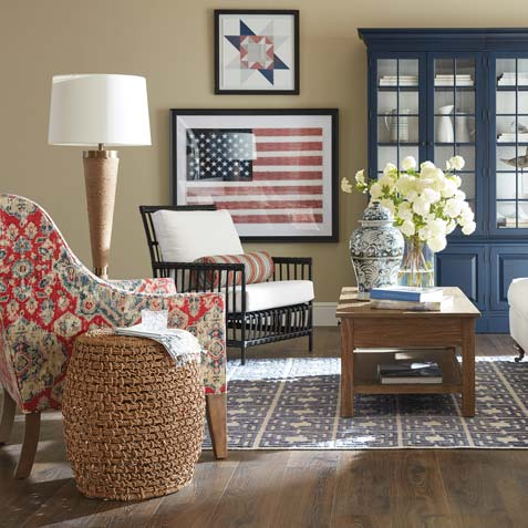 Americana-by-the-Sea Living Room Tile